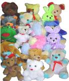 stuffed animals plush mix
