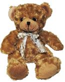 brown bear with curly short plush