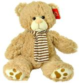 beige soft bear with scarf